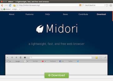 Midori Web Browser on Ubuntu 16.04